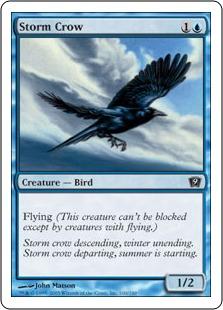《嵐雲のカラス/Storm Crow》[9ED] 青C