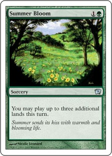 《花盛りの夏/Summer Bloom》[9ED] 緑U