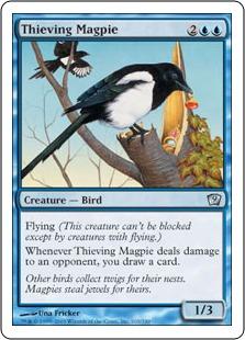 《泥棒カササギ/Thieving Magpie》[9ED] 青U