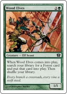 《ウッド・エルフ/Wood Elves》[9ED] 緑C