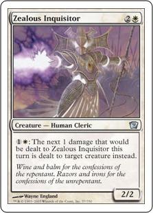 《盲信の審問官/Zealous Inquisitor》[9ED] 白U