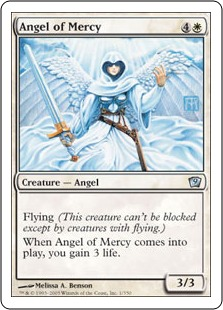 《慈悲の天使/Angel of Mercy》[9ED] 白U