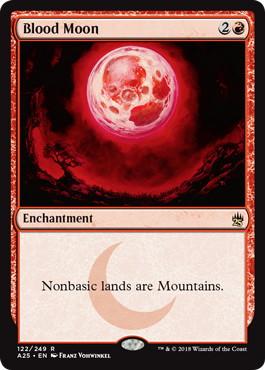 《血染めの月/Blood Moon》[A25] 赤R