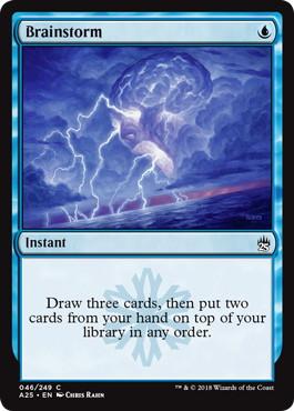 【Foil】《渦まく知識/Brainstorm》[A25] 青C