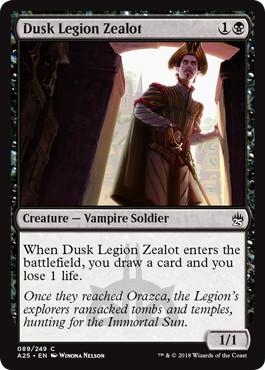 《薄暮軍団の盲信者/Dusk Legion Zealot》[A25] 黒C