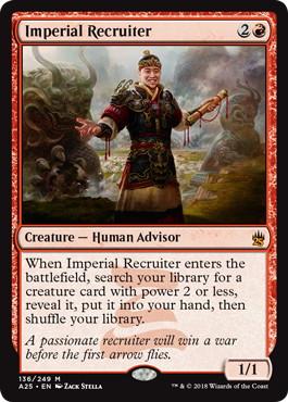 【Foil】《帝国の徴募兵/Imperial Recruiter》[A25] 赤R