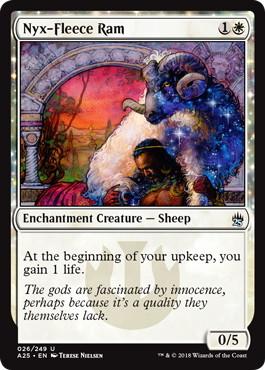 《ニクス毛の雄羊/Nyx-Fleece Ram》[A25] 白U