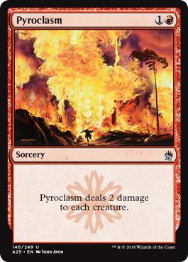 【Foil】《紅蓮地獄/Pyroclasm》[A25] 赤U