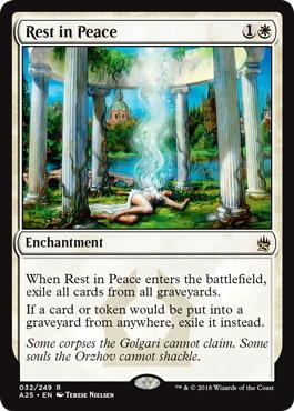 《安らかなる眠り/Rest in Peace》[A25] 白R