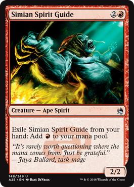《猿人の指導霊/Simian Spirit Guide》[A25] 赤U