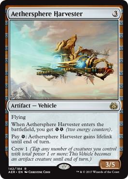 《霊気圏の収集艇/Aethersphere Harvester》[AER] 茶R