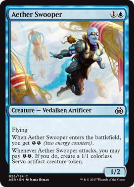 《霊気急襲者/Aether Swooper》[AER] 青C
