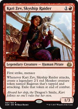 《航空船を強襲する者、カーリ・ゼヴ/Kari Zev, Skyship Raider》[AER] 赤R