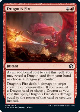 《ドラゴンの火/Dragon's Fire》[AFR] 赤C