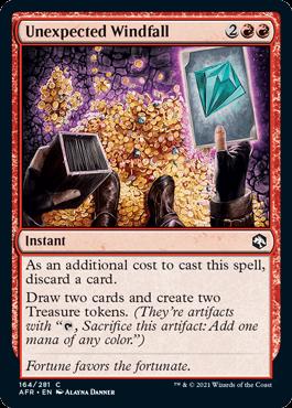 《予想外の授かり物/Unexpected Windfall》[AFR] 赤C