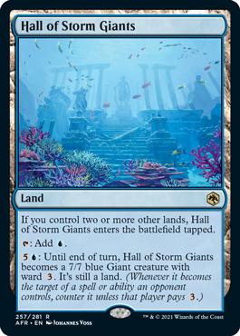 《ストーム・ジャイアントの聖堂/Hall of Storm Giants》[AFR] 土地R