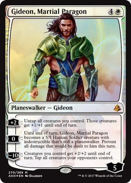 【Foil】《武芸の模範、ギデオン/Gideon, Martial Paragon》[AKH-PW] 白