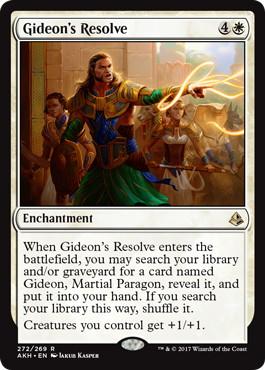 《ギデオンの決意/Gideon's Resolve》[AKH-PW] 白