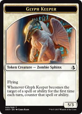 《象形の守り手/Glyph Keeper》トークン [AKH] 白