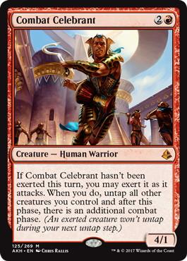 《戦闘の祝賀者/Combat Celebrant》[AKH] 赤R