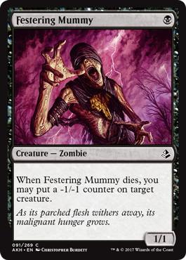 《ただれたミイラ/Festering Mummy》[AKH] 黒C