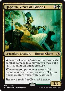 《毒物の侍臣、ハパチラ/Hapatra, Vizier of Poisons》[AKH] 金R