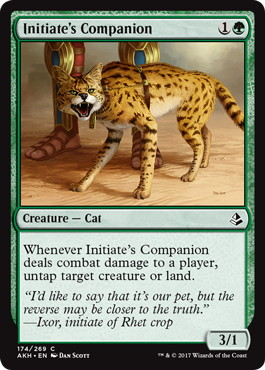 《修練者の相棒/Initiate's Companion》[AKH] 緑C