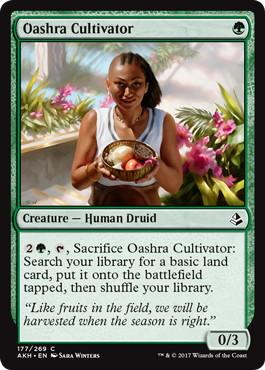 《オアシュラの耕作者/Oashra Cultivator》[AKH] 緑C