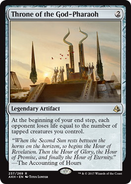 《王神の玉座/Throne of the God-Pharaoh》[AKH] 茶R