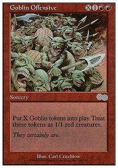 《ゴブリンの攻勢/Goblin Offensive》[ATH] 赤