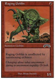 《怒り狂うゴブリン/Raging Goblin》[ATH] 赤