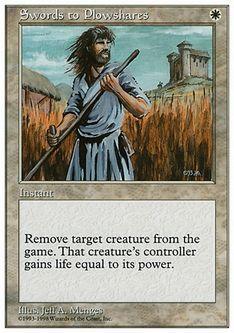 《剣を鍬に/Swords to Plowshares》[ATH] 白