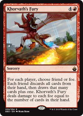 《コルバスの憤怒/Khorvath's Fury》[BBD] 赤R