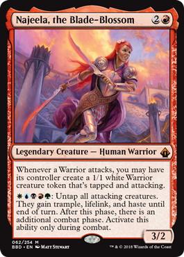 《刃を咲かせる者、ナジーラ/Najeela, the Blade-Blossom》[BBD] 赤R