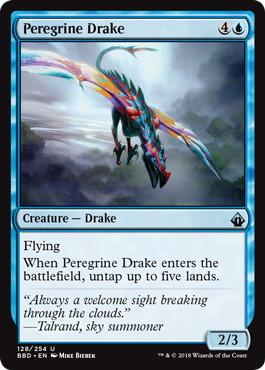 《流浪のドレイク/Peregrine Drake》[BBD] 青U