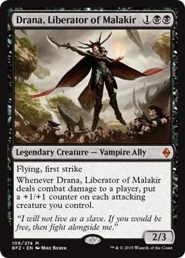 《マラキールの解放者、ドラーナ/Drana, Liberator of Malakir》[BFZ] 黒R