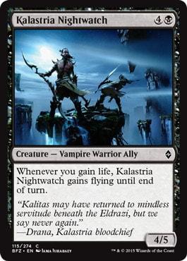 《カラストリアの夜警/Kalastria Nightwatch》[BFZ] 黒C