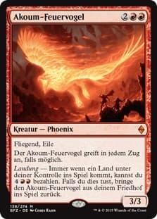 《アクームの火の鳥/Akoum Firebird》[BFZ] 赤R