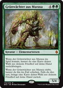 《ムラーサの緑守り/Greenwarden of Murasa》[BFZ] 緑R