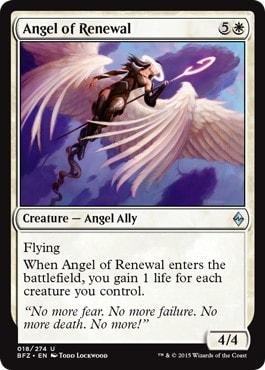 【Foil】《回生の天使/Angel of Renewal》[BFZ] 白U
