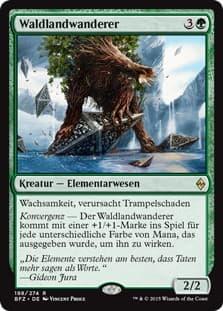 《放浪する森林/Woodland Wanderer》[BFZ] 緑R