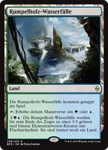 《伐採地の滝/Lumbering Falls》[BFZ] 土地R