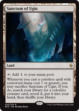 《ウギンの聖域/Sanctum of Ugin》[BFZ] 土地R