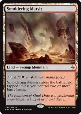 《燻る湿地/Smoldering Marsh》[BFZ] 土地R