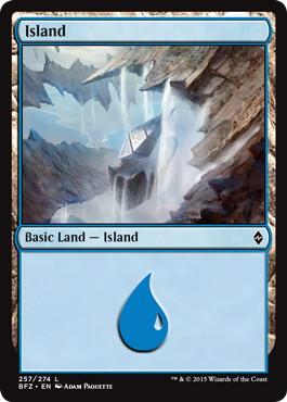 《島/Island》[BFZ]Normal Border 土地 (257)