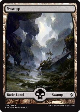 【Foil】《沼/Swamp》[BFZ] 土地 (264)