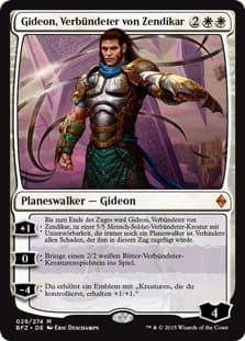 《ゼンディカーの同盟者、ギデオン/Gideon, Ally of Zendikar》[BFZ] 白R