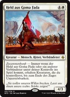 《ゴーマ・ファーダの英雄/Hero of Goma Fada》[BFZ] 白R