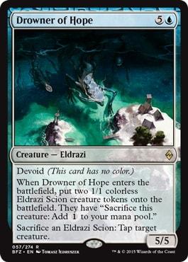 《希望を溺れさせるもの/Drowner of Hope》[BFZ] 青R