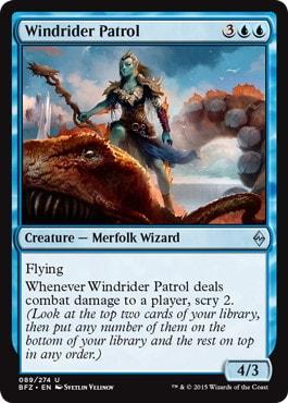 《風乗りの巡回兵/Windrider Patrol》[BFZ] 青U